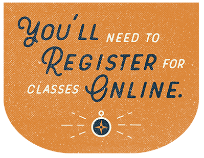 You'll Need To Register For Classes Online illustration