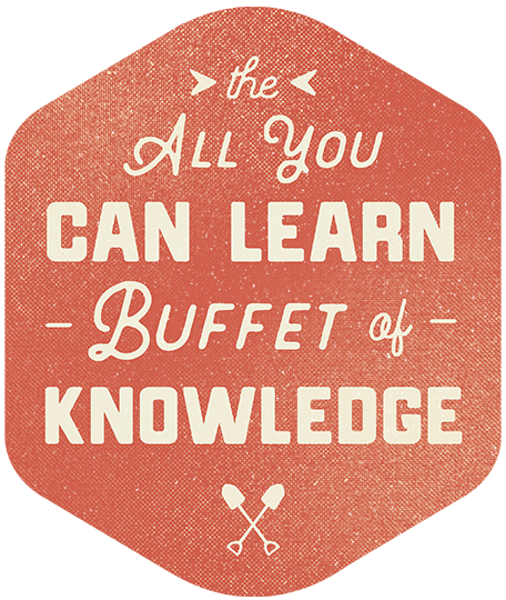All you can eat buffet of knowledge illustration
