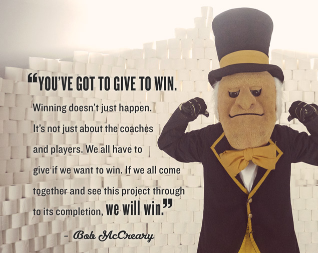 Bob McCreary quote about giving to win