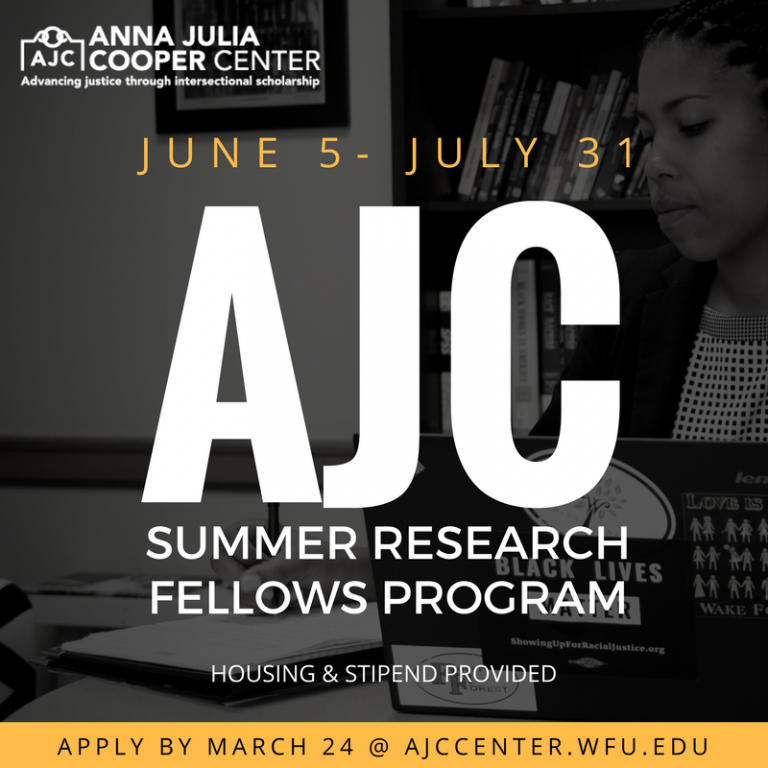 The Anna Julia Cooper Center Summer Research program