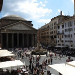 The view from my classroom in Rome. It was hard to concentrate with the Pantheon right outside the window.
