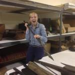 Laura holding a harpoon