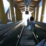 Inside the escalator