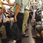 The Subway was hot and crowded with temperatures as high as can be.