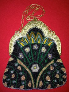 This Vintage Beaded Evening Bag with Art Deco Flower Design is one of my favorites of Ms. Greene's.