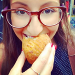 Me chowing down on one last Arancino from Arancini Bros NYC before the summer is over