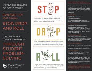 Stop, Drop, & Roll method of problem solving