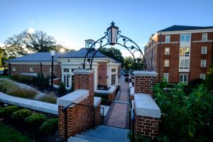 Archway toward the North Campus Dining Hall.