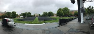 A panoramic view from the Commencement stage