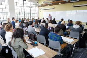 Class being taught at Wake Downtown