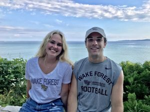 Where in the World Are Wake Foresters? Sophomore Libby Mohn and Senior Matt Jacobs' families are on vacation and their cabins are next to each other in Michigan