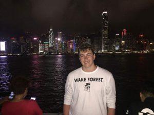 Cameron McClure '19 in Asia