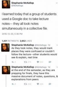 Google Docs for notetaking
