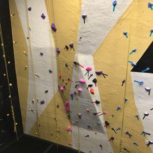 climbing and rope wall