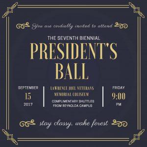 2017 President's Ball invitation