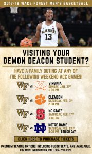 Spring home basketball games special promotion information