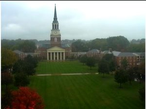 A rainy view from the Quad Cam