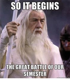 Lord of the Rings finals meme