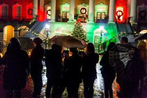 Wake Forest University 15th annual Lighting of the Quad. Tuesday, December 5, 2017.