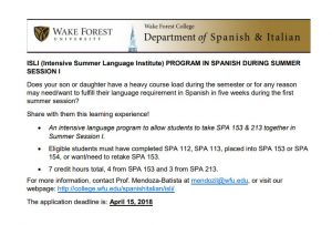 ISLI information for parents