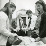 Ed Christman with students in 1980.