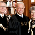 Dr. and Mrs. Hatch with Vice President Joe Biden prior to the 2009 Wake Forest University Commencement Exercises