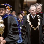 President Hatch and the Faculty at Commencement