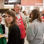 Serving late-night breakfast to students during final exams