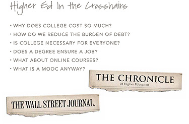Higher Ed in the crosshairs