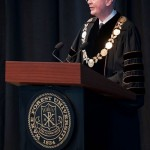 President Hatch speaks at Founders' Day Convocation.