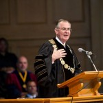 President Hatch gives his remarks at New Student Convocation