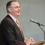 President Hatch speaking in Wait Chapel.