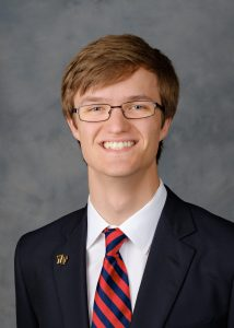 Wake Forest President's Aides headshots, Thursday, April 27, 2017. William Morgan ('19).