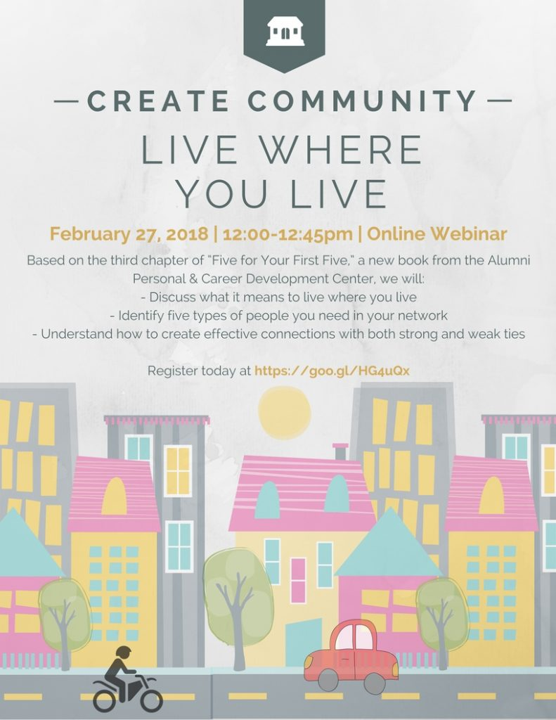 Create Community WebEX - Tuesday, February 27 at 12 Noon