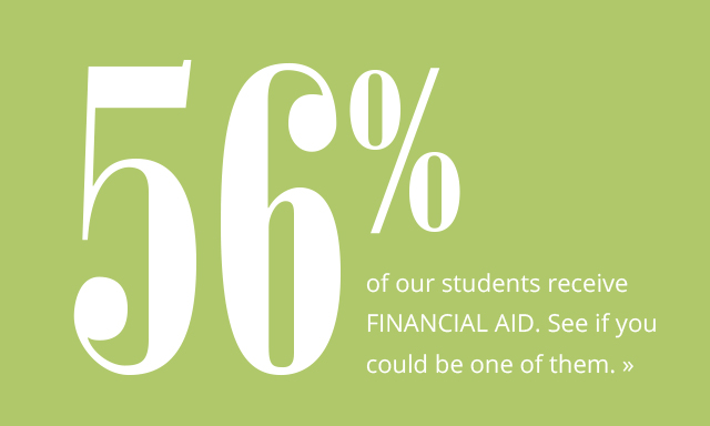 Financial Aid, 56% of Students Receive Financial Aid