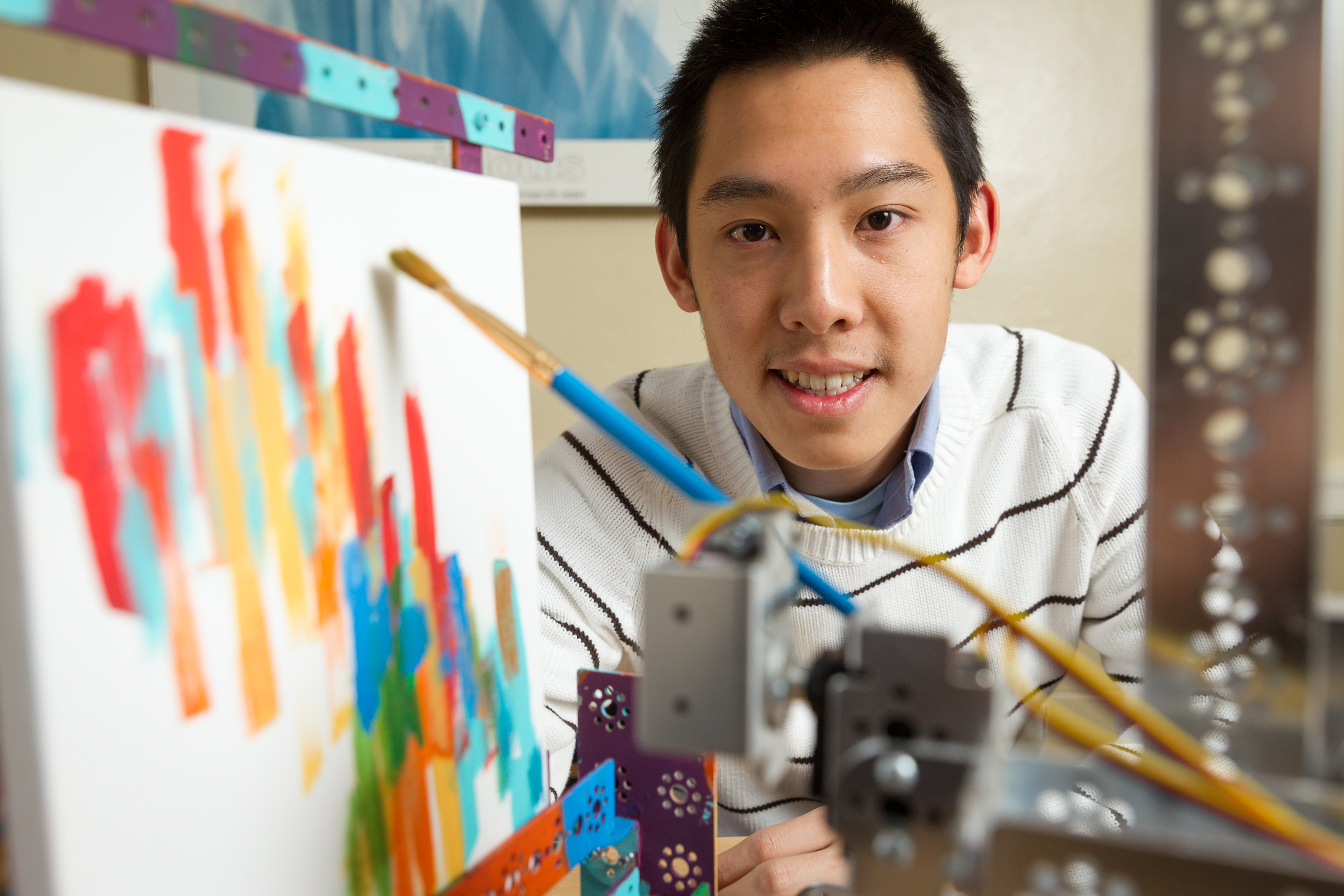 Student Research Painting Robot, Tim Lee, Work of Art