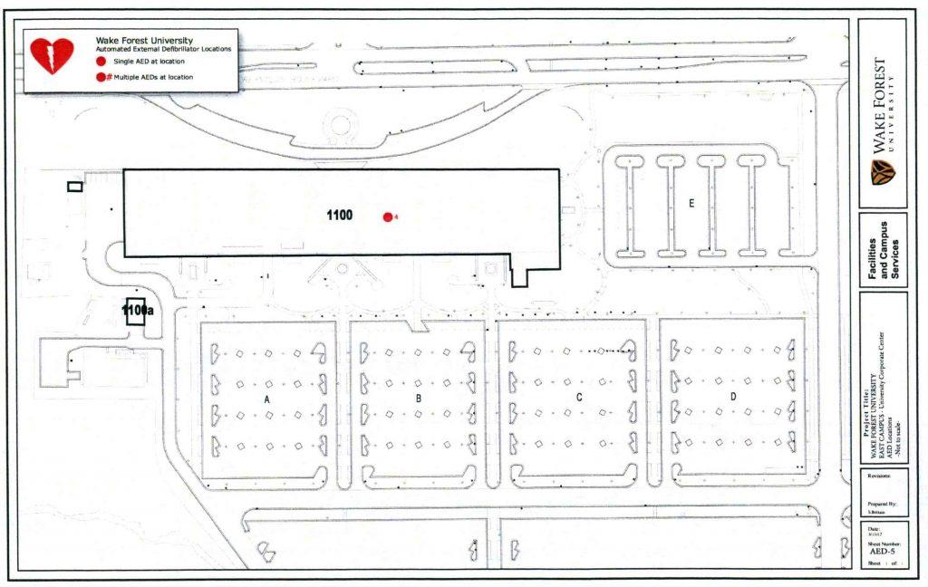 AED Locations University Corporate Center