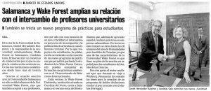 Candelas Gala in newspaper article