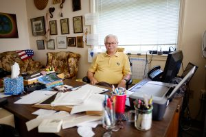 Ray Kuhn in his office