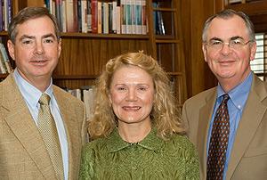 Tom and Karyn Dingledine with Wake Forest President Nathan Hatch