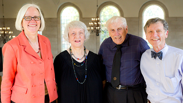 Gail O'Day, Marilyn and James Dunn and Bill Leonard