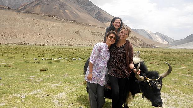 Carrie Stokes, Kendall Hack and Rachel Handel in India