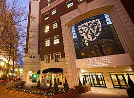 Charlotte Center at night