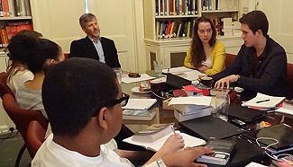 Eric Wilson teaches in Worrell House.