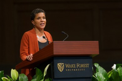 More than 1,000 people attended Alexander's 6 p.m. public presentation. In her talk, Alexander argued the criminal justice system has facilitated a new form of racial and social control. Mass incarceration, she said, has not been driven by crime.