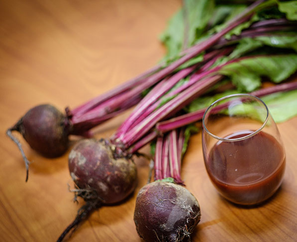 Beet root and juice