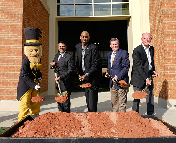 Wake Forest University breaks ground for the Shah Basketball Complex and Sutton Sports Performance Center