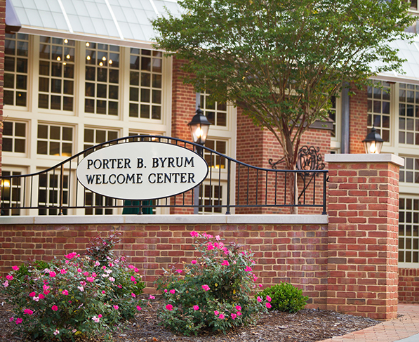Entrance to the Porter B. Byrum Welcome Center