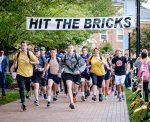 Students participate in Wake Forest University's Hit the Bricks event to raise money for cancer research