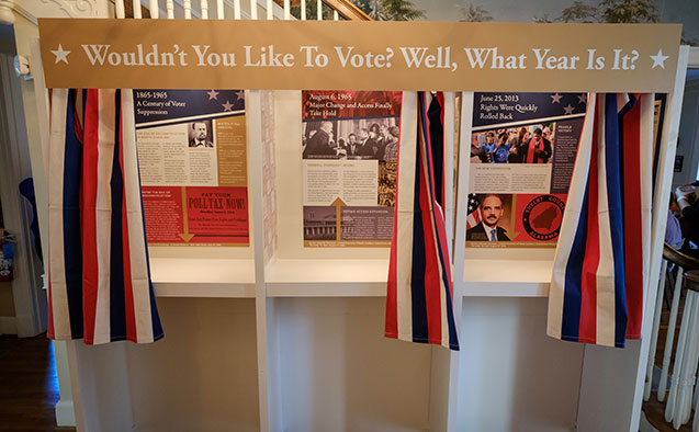 Wake the Vote booth at the Pro Humanitate house at Wake Forest.